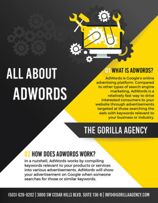 All About AdWords Brochure | The Gorilla Agency