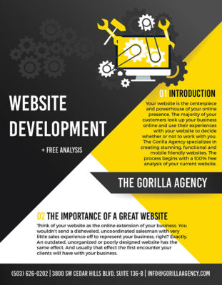 Website Development + Free Analysis Brochure | The Gorilla Agency