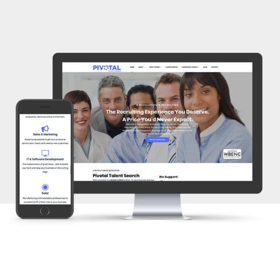 Portfolio: Responsive desktop and mobile display of Pivotal's website